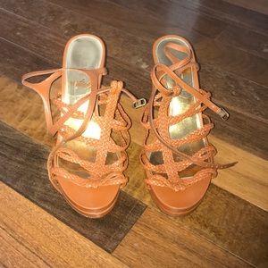Women's Size 9 1/2 Ralph Lauren Wedge Sandals